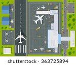 airport passenger terminal  top ... | Shutterstock .eps vector #363725894