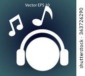 listening to music on... | Shutterstock .eps vector #363726290
