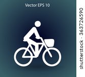 flat cyclist icon | Shutterstock .eps vector #363726590