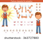 schoolboy. parts of body... | Shutterstock .eps vector #363727883
