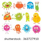 good monsters. funny cartoon... | Shutterstock .eps vector #363727910