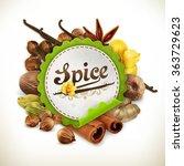 spice  vector label   Shutterstock .eps vector #363729623