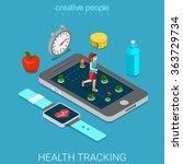 health tracking flat 3d... | Shutterstock .eps vector #363729734