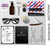 vector barbershop corporate... | Shutterstock .eps vector #363732944