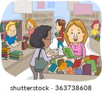 illustration of a customers at... | Shutterstock .eps vector #363738608