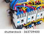 Close Up Circuit Breakers And...