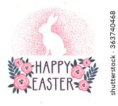 Vector Easter Background With...