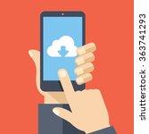 cloud storage app on smartphone ...