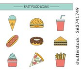 fast food concept | Shutterstock .eps vector #363741749