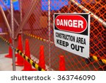 Danger Construction Area Sign....