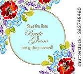 vintage delicate invitation...   Shutterstock .eps vector #363748460