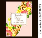 vintage delicate invitation... | Shutterstock .eps vector #363748529