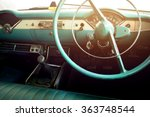 classic car   vehicle interior  ... | Shutterstock . vector #363748544