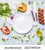 ingredients for cooking salad... | Shutterstock . vector #363749534