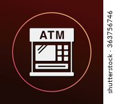 financial bank atm icon | Shutterstock .eps vector #363756746