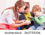 the boy in dental office | Shutterstock . vector #363759206
