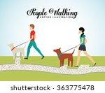 people walking design  | Shutterstock .eps vector #363775478