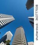 high rise buildings in tokyo | Shutterstock . vector #363777038