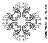 vintage baroque frame scroll...   Shutterstock .eps vector #363788528