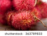 fresh tropical rambutan fruits... | Shutterstock . vector #363789833