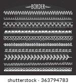 set of hand drawn border doodle ...   Shutterstock .eps vector #363794783