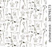 seamless prehistorical pattern... | Shutterstock .eps vector #363798173