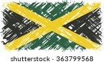 jamaican grunge flag. raster... | Shutterstock . vector #363799568