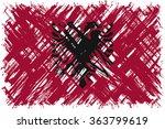 albanian grunge flag. raster... | Shutterstock . vector #363799619