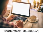 side view of man working laptop.... | Shutterstock . vector #363800864