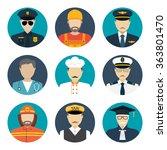 avatars profession people  cop  ... | Shutterstock .eps vector #363801470