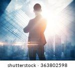 portrait of bearded gentleman... | Shutterstock . vector #363802598