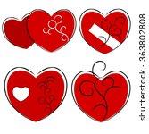 red heart in love concept... | Shutterstock .eps vector #363802808