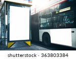 empty lightbox on the bus stop... | Shutterstock . vector #363803384