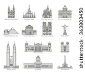 World Landmark Icon Set   Eps1...