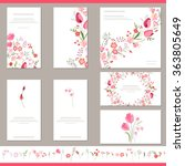 floral spring templates with... | Shutterstock .eps vector #363805649
