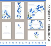 floral spring templates with... | Shutterstock .eps vector #363805730
