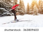 young man cross country skiing. ...   Shutterstock . vector #363809603