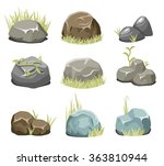 rocks with grass  stones and...