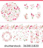 Floral Spring Elements With...