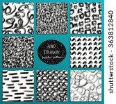 hand drawn seamless patterns...   Shutterstock .eps vector #363812840