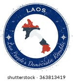 laos. grunge rubber stamp with... | Shutterstock .eps vector #363813419