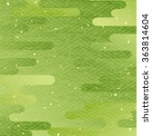 maccha color japanese pattern... | Shutterstock .eps vector #363814604