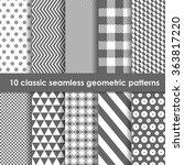 set of 10 monochrome classic... | Shutterstock .eps vector #363817220