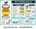restaurant brochure vector ... | Shutterstock .eps vector #363818234