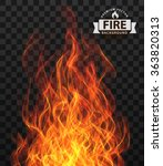 vector fire flame frame border | Shutterstock .eps vector #363820313