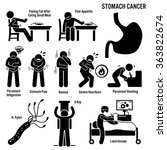 stomach cancer symptoms causes... | Shutterstock .eps vector #363822674