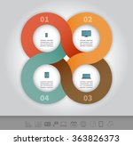 4 options linked circles in... | Shutterstock .eps vector #363826373