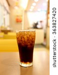 cold cola in glass drink for...   Shutterstock . vector #363827420