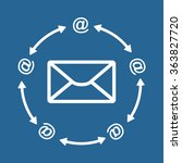 mail icon  vector illustration. ...