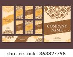 set of business cards. vintage... | Shutterstock .eps vector #363827798